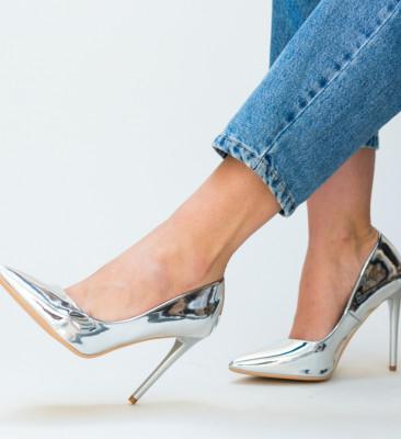 Pantofi Mercado Argintii