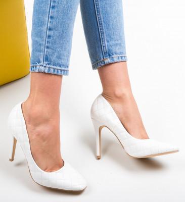 Pantofi Moba Albi