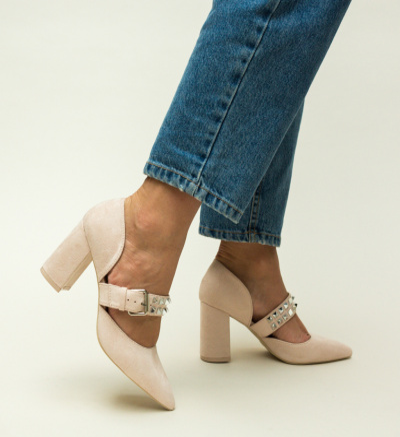 Pantofi Norman Nude