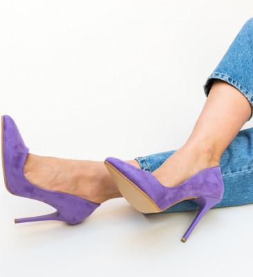 Pantofi Shaggy Mov 2