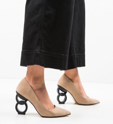 Pantofi Simoni Bej 4