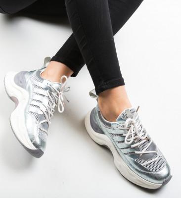 Pantofi Sport Bordan Argintii