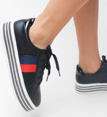 Pantofi Sport Fold Negri