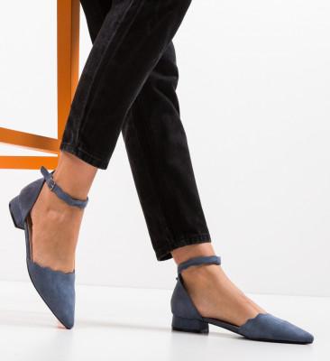 Pantofi Wood Albastri