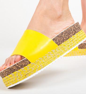 Papuci Draper Galbeni