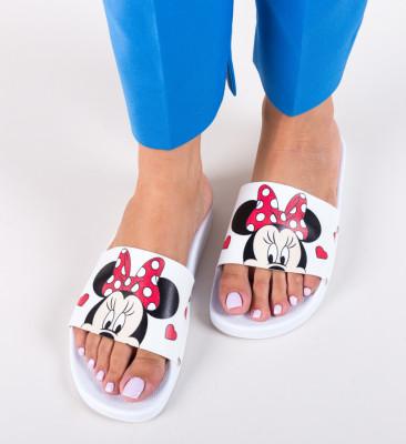 Papuci Minnie Albi