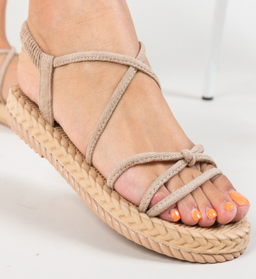 Sandale Binocle Bej