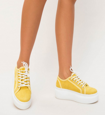 Pantofi Sport Sabor Galbeni
