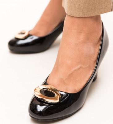 Pantofi Flores Negri