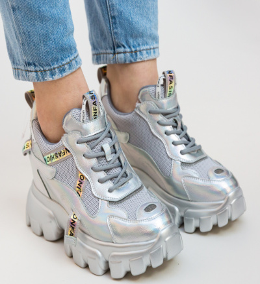 Pantofi Sport Lot Argintii