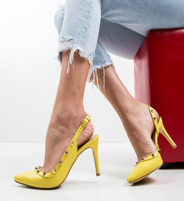 Pantofi Alenro Galbeni