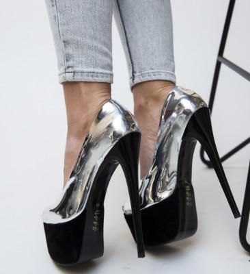 Pantofi Brady Argintii