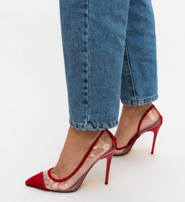 Pantofi Brennan Rosii