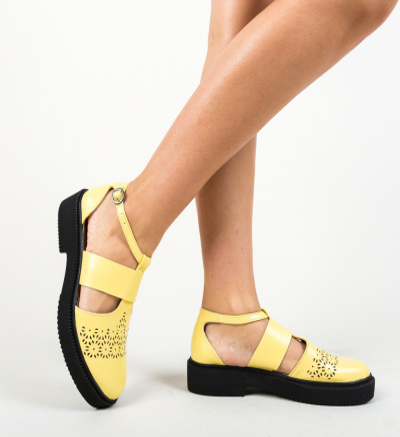 Pantofi Casual Aston Galbeni
