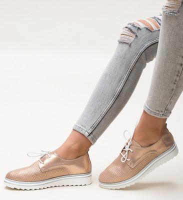 Pantofi Casual Dropin Aurii