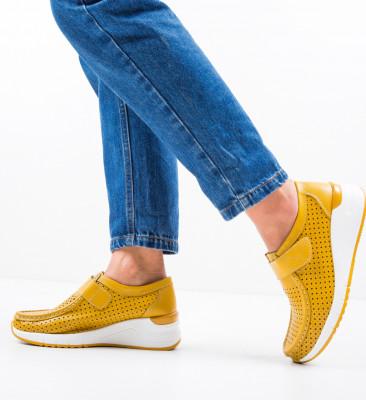 Pantofi Casual Farza Galbeni