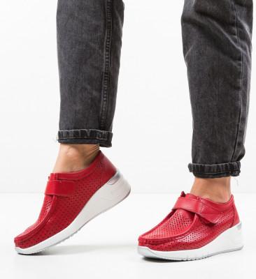 Pantofi Casual Farza Rosii