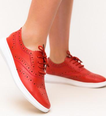 Pantofi Casual Indigo Rosii