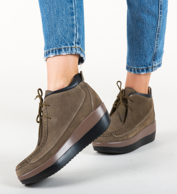 Pantofi Casual Lennon Khaki