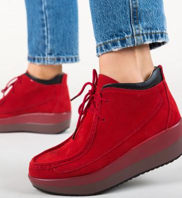 Pantofi Casual Lennon Rosii