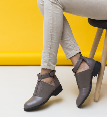 Pantofi Casual Loreta Khaki.
