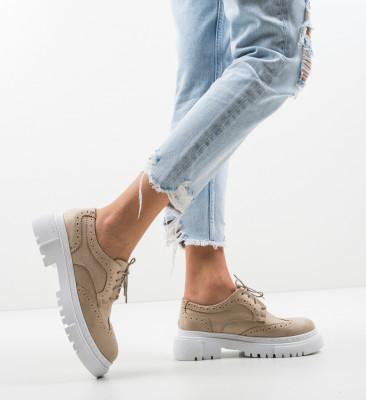 Pantofi Casual Mrela Bej