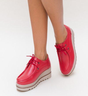 Pantofi Casual Sagrio Rosii