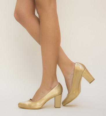 Pantofi Casy Aurii