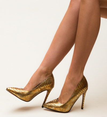 Pantofi Dustin Aurii 3