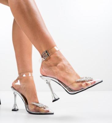 Pantofi Enva Argintii