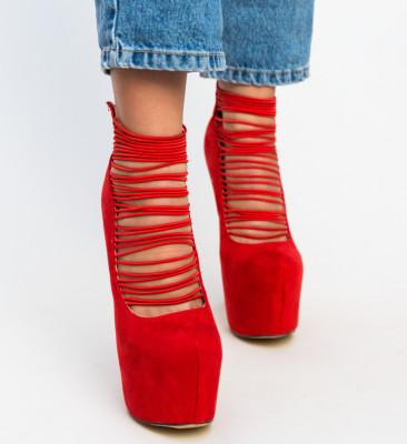 Pantofi Karim Rosii