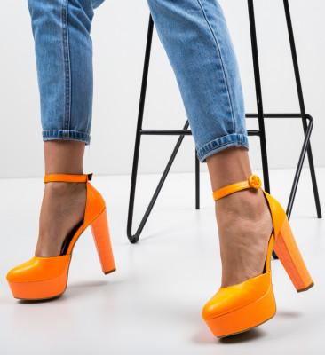 Pantofi Krista Portocalii Neon