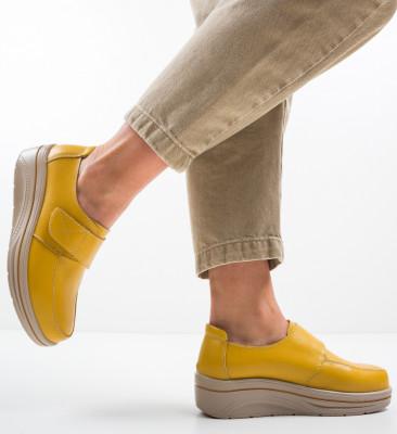 Pantofi Sport Hausberg Galbeni