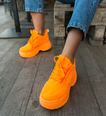 Pantofi Sport Ines Portocalii