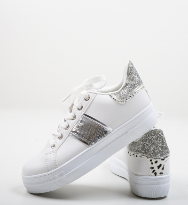 Pantofi Sport Mina Argintii