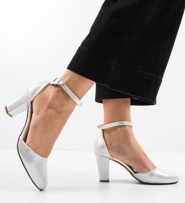 Pantofi Terp Argintii