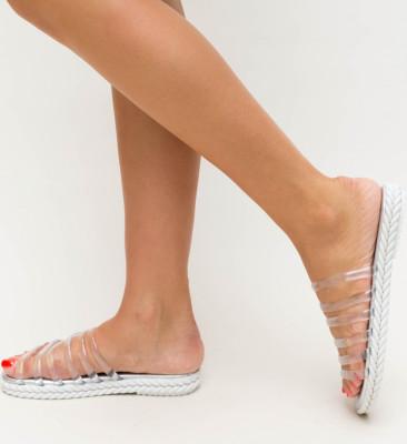Papuci Barosa Argintii