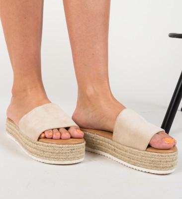 Papuci Cameron Bej