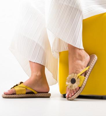 Papuci Decina Galbeni