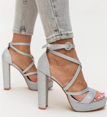 Sandale Carly Argintii