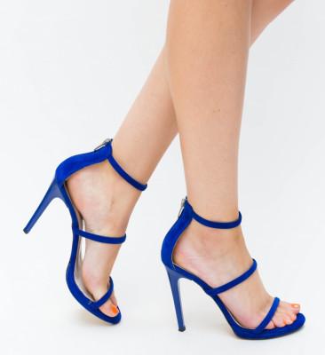 Sandale Cu Toc Kim Albastre