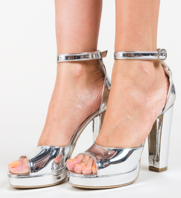 Sandale Komal Argintii