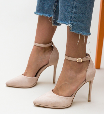 Pantofi Collier Bej