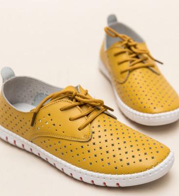 Pantofi Casual Hilio Galbeni