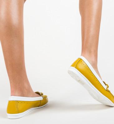 Pantofi Bordo Galbeni
