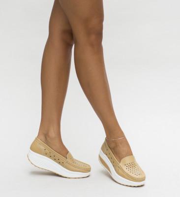 Pantofi Casual Buga Bej