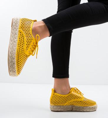 Pantofi Casual Cazori Galbeni
