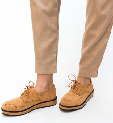 Pantofi Casual Devonk Camel