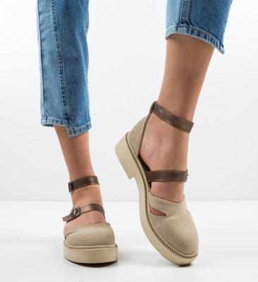 Pantofi Casual Nitrat Bej