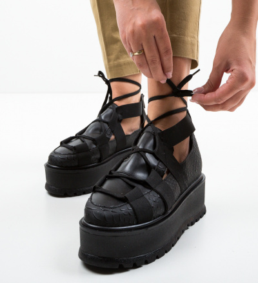 Pantofi Casual Sesane Negri